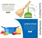 cleaning set objects. plastic...   Shutterstock .eps vector #1120467473