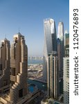 dubai skyscrapers. dubai marina ... | Shutterstock . vector #1120476893