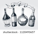 set of hand drawn different... | Shutterstock .eps vector #1120493657