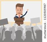 public speaker politician on... | Shutterstock .eps vector #1120505987