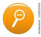 cursor magnifier minus icon.... | Shutterstock .eps vector #1120519163