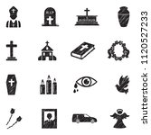 funeral icons. black scribble... | Shutterstock .eps vector #1120527233