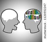 two heads speak icon | Shutterstock .eps vector #1120552247
