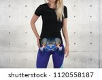 woman with hip joint pain.... | Shutterstock . vector #1120558187