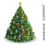 christmas tree | Shutterstock .eps vector #112056947