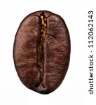 coffee bean isolated on white... | Shutterstock . vector #112062143