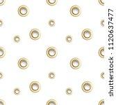 golden eyelet seamless pattern... | Shutterstock .eps vector #1120637477