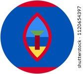 circular flag of guam   Shutterstock .eps vector #1120654397