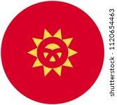 circular flag of kyrgyzstan   Shutterstock .eps vector #1120654463
