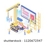 modern isometric smart website...
