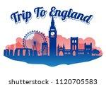 england famous landmark... | Shutterstock .eps vector #1120705583