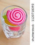 fruit jelly roll with sprinkle... | Shutterstock . vector #1120718393
