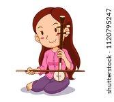 cartoon character of girl... | Shutterstock .eps vector #1120795247