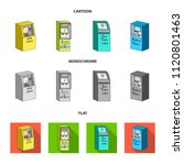 cash machine for cash  terminal ...   Shutterstock .eps vector #1120801463