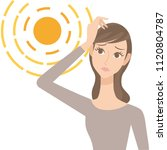 strong sunshine and ladies | Shutterstock .eps vector #1120804787