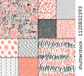 abstract hand drawn geometric... | Shutterstock .eps vector #1120832393