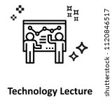 technology lecture vector icon  | Shutterstock .eps vector #1120846517