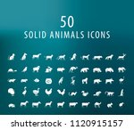 set of 50 universal solid... | Shutterstock .eps vector #1120915157