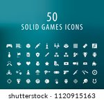 set of 50 universal solid games ... | Shutterstock .eps vector #1120915163