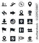 set of vector isolated black... | Shutterstock .eps vector #1120923887