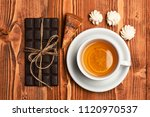 cup of green tea with slice of... | Shutterstock . vector #1120970537