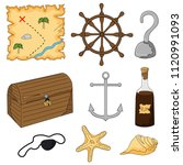 set of elements for a pirate... | Shutterstock .eps vector #1120991093