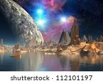 alien planet | Shutterstock . vector #112101197