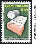 finland   circa 1968  stamp... | Shutterstock . vector #112102283
