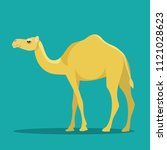 camel isolated. vector flat... | Shutterstock .eps vector #1121028623