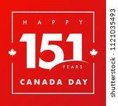 151 years anniversary  happy... | Shutterstock .eps vector #1121035493