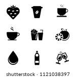 vector beverage drink icons set.... | Shutterstock .eps vector #1121038397