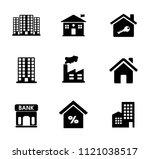 vector building icons set  ... | Shutterstock .eps vector #1121038517