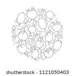 cartoon circle illustration... | Shutterstock .eps vector #1121050403
