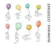 cartoon little people with... | Shutterstock .eps vector #1121051663