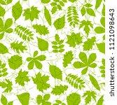 green leaves seamless pattern.... | Shutterstock . vector #1121098643