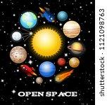 open space.solar system... | Shutterstock . vector #1121098763