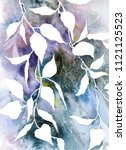 floral background. painting... | Shutterstock . vector #1121125523