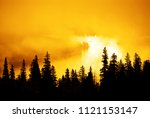 misty mouintain forest with...   Shutterstock . vector #1121153147