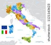 vector political map of italy...   Shutterstock .eps vector #1121163623