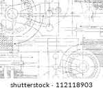 grungy technical drawing vector ... | Shutterstock .eps vector #112118903