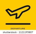 departure icon signs | Shutterstock .eps vector #1121195807