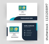 geography  business card design ... | Shutterstock .eps vector #1121203097