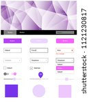 light pink vector web ui kit in ...