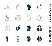 casual icon. collection of 16... | Shutterstock .eps vector #1121242973