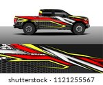 truck and car graphic...   Shutterstock .eps vector #1121255567