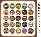 set of retro label design | Shutterstock .eps vector #112125737