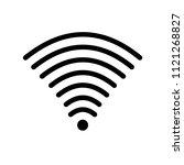 wifi signal of full strength... | Shutterstock .eps vector #1121268827