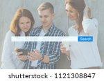 search seo online internet...   Shutterstock . vector #1121308847