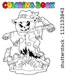 coloring book halloween... | Shutterstock .eps vector #112133843