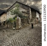 Rustic House in Pitoes das Junias _ Geres _ Portugal - stock photo